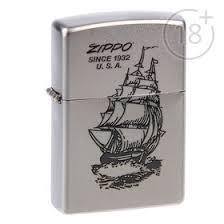 <b>Зажигалка ZIPPO 205 Boat-Zippo</b> с покрытием Satin Chrome ...