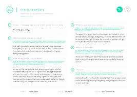 pitch document template pitch template 100 open