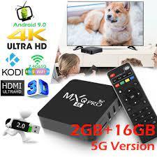 5G Version】MXQ PRO 4K Android TV BOX 2+16GB RK3229 Quad-Core Android 9.0  Smart TV Box - Android TV Box, Smart Box