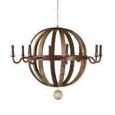 wine barrel chandelier 8 candles
