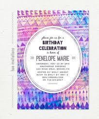 Tribal Birthday Party Invitation Teen Birthday Invitation Modern