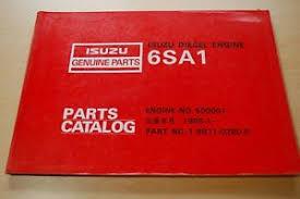 isuzu 6sa1 diesel engine parts manual book catalog boat motor truck image is loading isuzu 6sa1 diesel engine parts manual book catalog