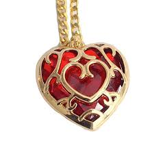 women the legend of zelda skyward sword heart container necklace keyring pendant