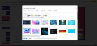 how to change google slides background
