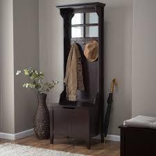 Hallway Seat And Coat Rack Belham Living Carlisle Mini Mission Hall Tree Hayneedle 59