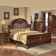 Sleigh Bedroom Suites Anondale Brown Cherry Sleigh Bedroom Set Home Decor Bedrooms