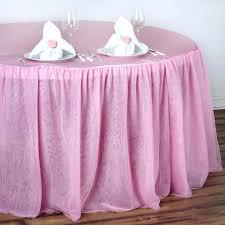round table skirt pink 3 layer tulle tutu satin pleated round table skirt table skirt diy