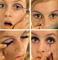 apply 1960 s style eye makeup