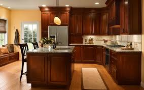 dark cherry cabinet kitchen designs