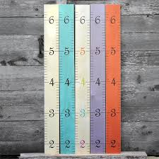 Hanging Growth Chart Wooden Ruler Growth Chart Kids Wood Height Chart