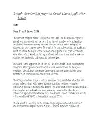Cover Letter Scholarship Application Manuden