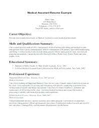 Document Control Assistant Sample Resume Mesmerizing Sample Resume Of Medical Assistant Resume Medical Assistant Medical