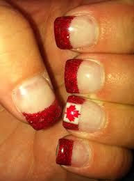 Canada Day Gel Nail Designs Canada Day Nails Nails Nails Flag Nails Gel Nails