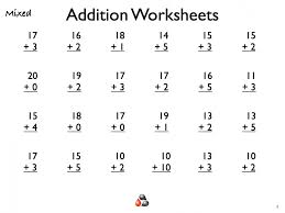 Math Worksheets First Grade Printable Mental 1st Free Fun For ...
