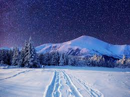 Cold winter night-Sky full with stars ...