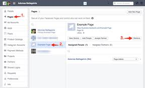 removing a facebook page from business manager account
