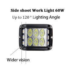<b>ECAHAYAKU 2PCS 60W 4</b> Inch Cubes Pod LED Work Light 12V ...