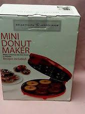 Bella Cucina Artful Food Red Mini Donut Maker 7 Bite Size in Minutes  Recipes Inc