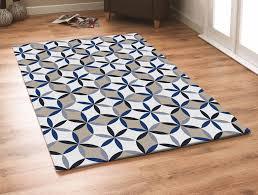 Amazing Blue Area Rug For Your Interior Floor Decor: Modern Geometric Blue  Area Rug For
