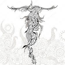 татуировки птица феникс тату птица феникс векторное изображение