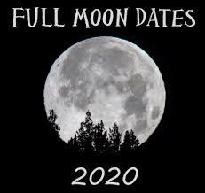Wiccan Moon Chart Full Moon Calendar 2020