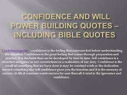 Confidence And Will Power Building Quotes _ Including Bible Quotes ...