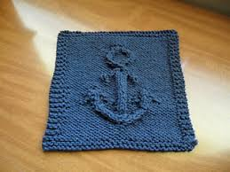 Sugar And Cream Knit Dishcloth Pattern Fascinating Ravelry Anchors Away Dishcloth Pattern By Lily Sugar'n Cream