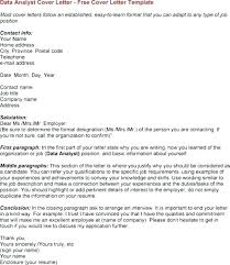 Analyst Cover Letter Sample Letter Resume Directory