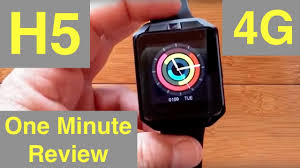 Microwear H5 <b>Android 6 Smartwatch</b> with 4G Cellular: One Minute ...