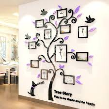 family tree picture frame wall acrylic photo frames wall family tree stickers three dimensional wall sticker