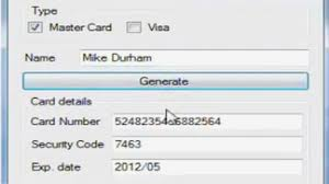 credit card numbers that work 10 with cvv and expiration date