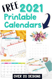 Make every day count with our free 2021 printable calendars. Free Printable 2021 Calendars Crafting In The Rain
