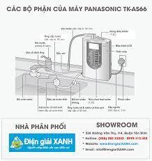Cấu tạo chi tiết máy lọc nước điện giải Panasonic TK-AS66