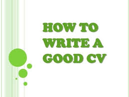 How To Write A Good Cv How To Write A Good Cv Friday Gig Interview