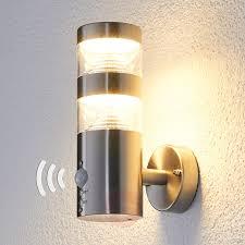 modern outdoor sensor wall lights. led outdoor wall light lanea with motion sensor modern lights
