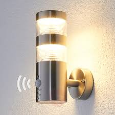 led outdoor wall light lanea with motion sensor 9988006 02