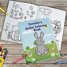 Amazoncom Personalized Easter Coloring Book 24 Pages Comes With