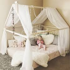 Montessori toddler beds Frame bed House bed house Wood house   Etsy