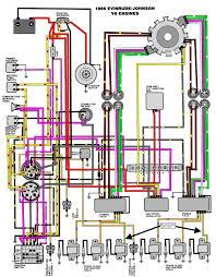 evinrude johnson outboard wiring diagrams mastertech marine v 6 motors 1985