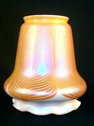 4 inch fitter glass shade 2 1 4 fitter glass shade lamp oversized art tucked ruffled