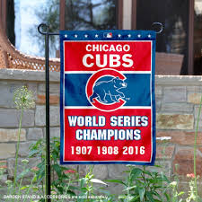 chicago cubs 3 time world series champions garden flag and double two sided garden banners