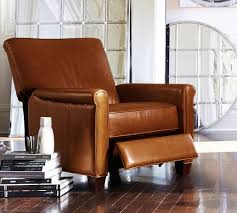 pottery barn recliner. Perfect Pottery Irving Roll Arm Leather Recliner With Pottery Barn A