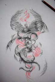 Phoenix Draw Tattoo Design Tatu татуировка феникс татуировки и