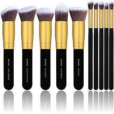 bs mall tm makeup brushes premium makeup brush set synthetic kabuki cosmetics foundation blending blush eyeliner face powder brush makeup brush kit 10pcs