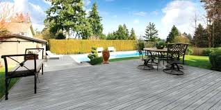 composite pool deck surround in residential backyard hot tub surrounds enclosure diy creating unique and with materials