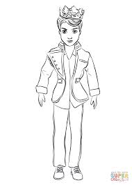 Descendants Coloring Pages King Benjamin Ben From Page Free