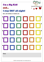 Night Chart Printable Stay Dry At Overnight Incentive Chart Chore