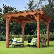 details about pergola canopy cedar wood cover outdoor patio gazebo garden shade x feet wooden plans gazebo roof kit wood patio wooden outdoor plans