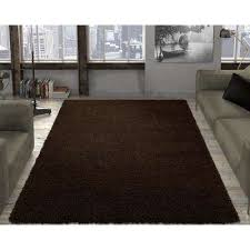 contemporary solid brown 8 ft x 10 ft area rug