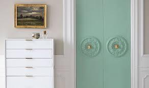 Closet doors Accordion Turn Your Plain Closet Doors Into Major Style Statements One Kings Lane Chic Diy Closet Door Update